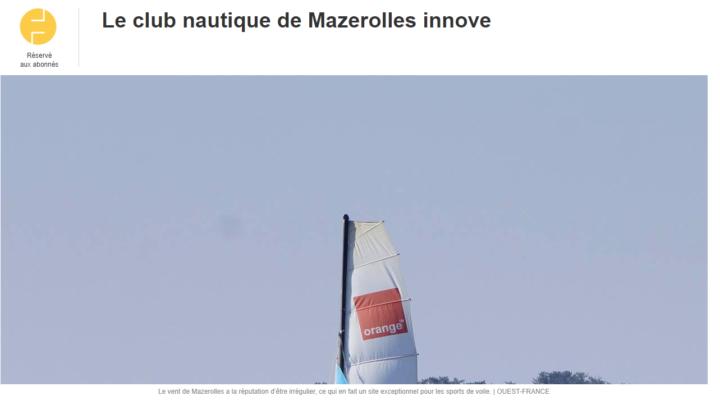 Le CNM dans Ouest France