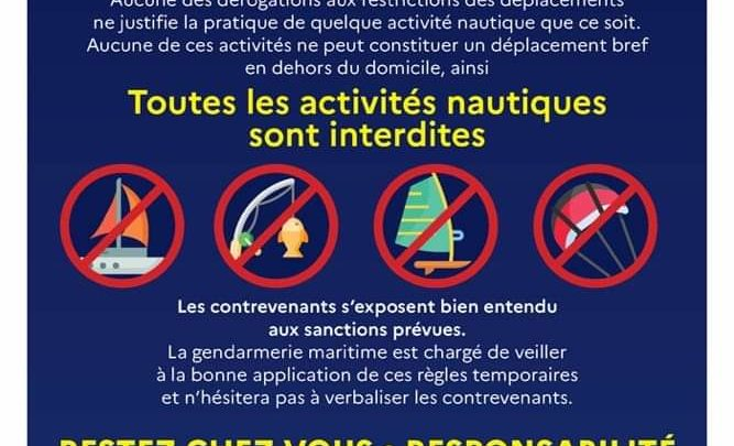 Interdiction de navigation / Sports nautique